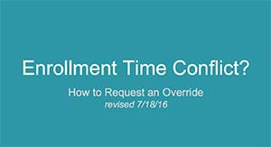 Time Conflict Request